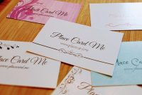 Place Cards Template Ideas Placement Card Formidable Word with Amscan Templates Place Cards