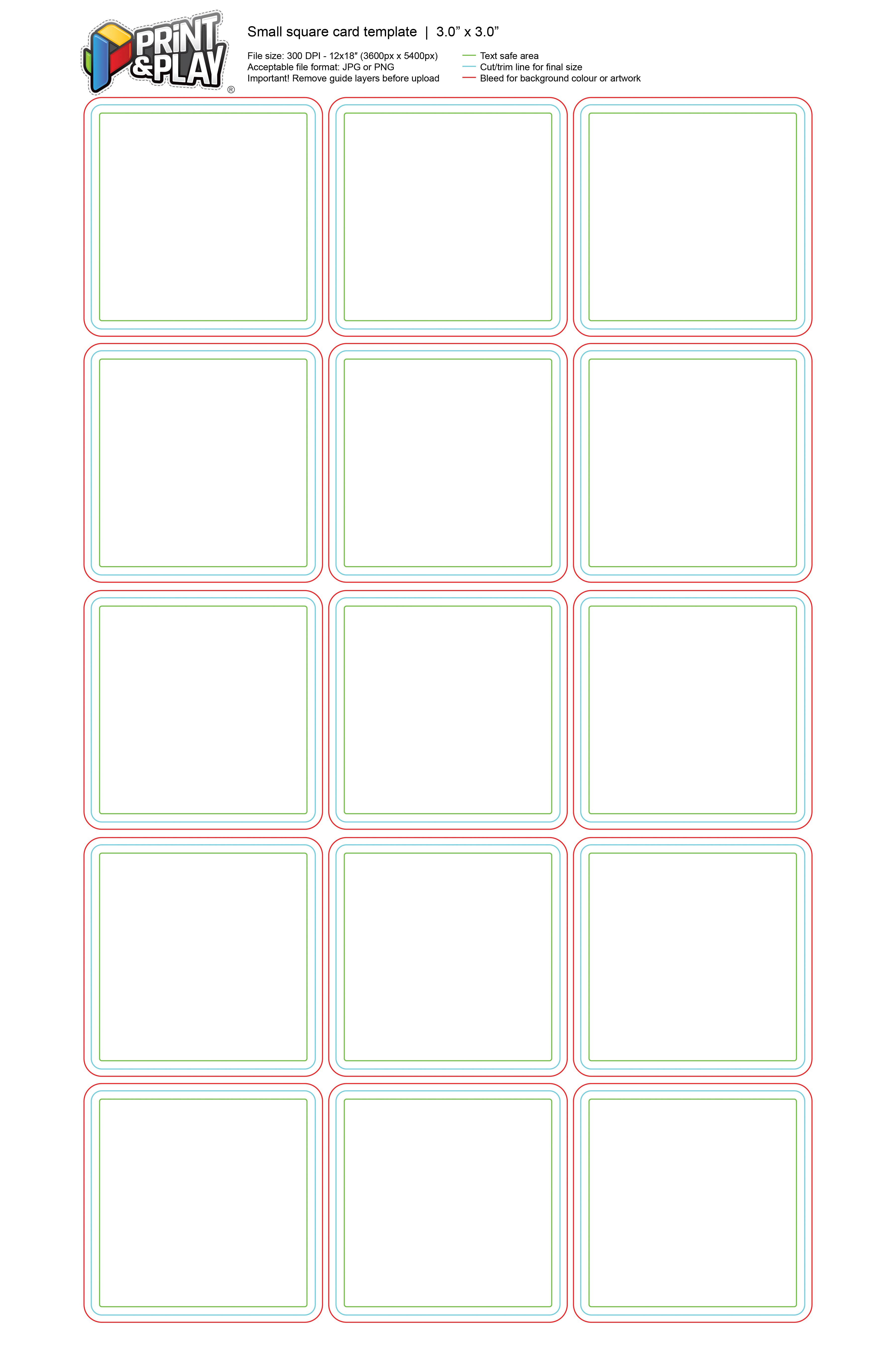 Playing Cards  Formatting  Templates  Print  Play For Playing Card Template Illustrator