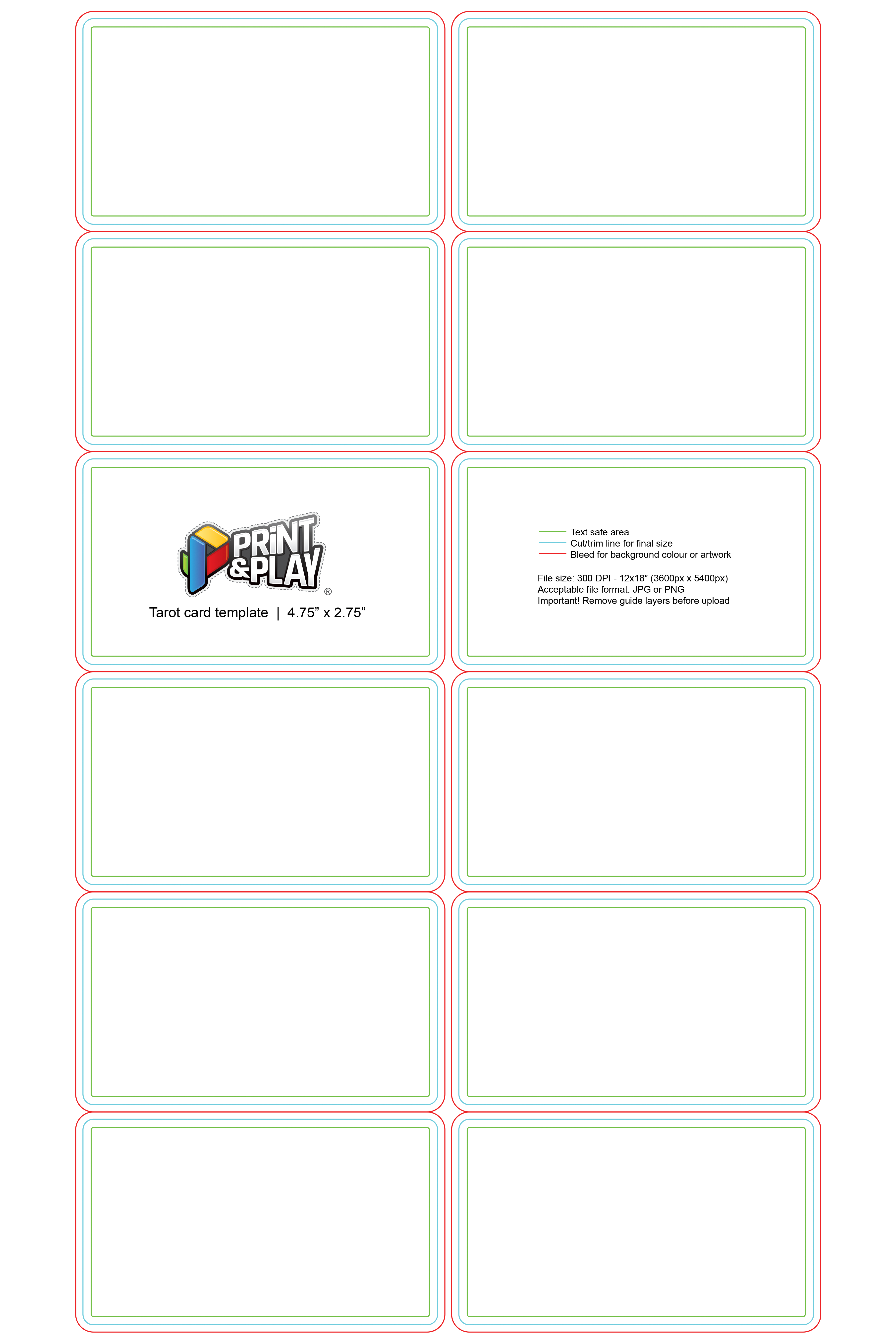 Playing Cards  Formatting  Templates  Print  Play Intended For Playing Card Template Illustrator