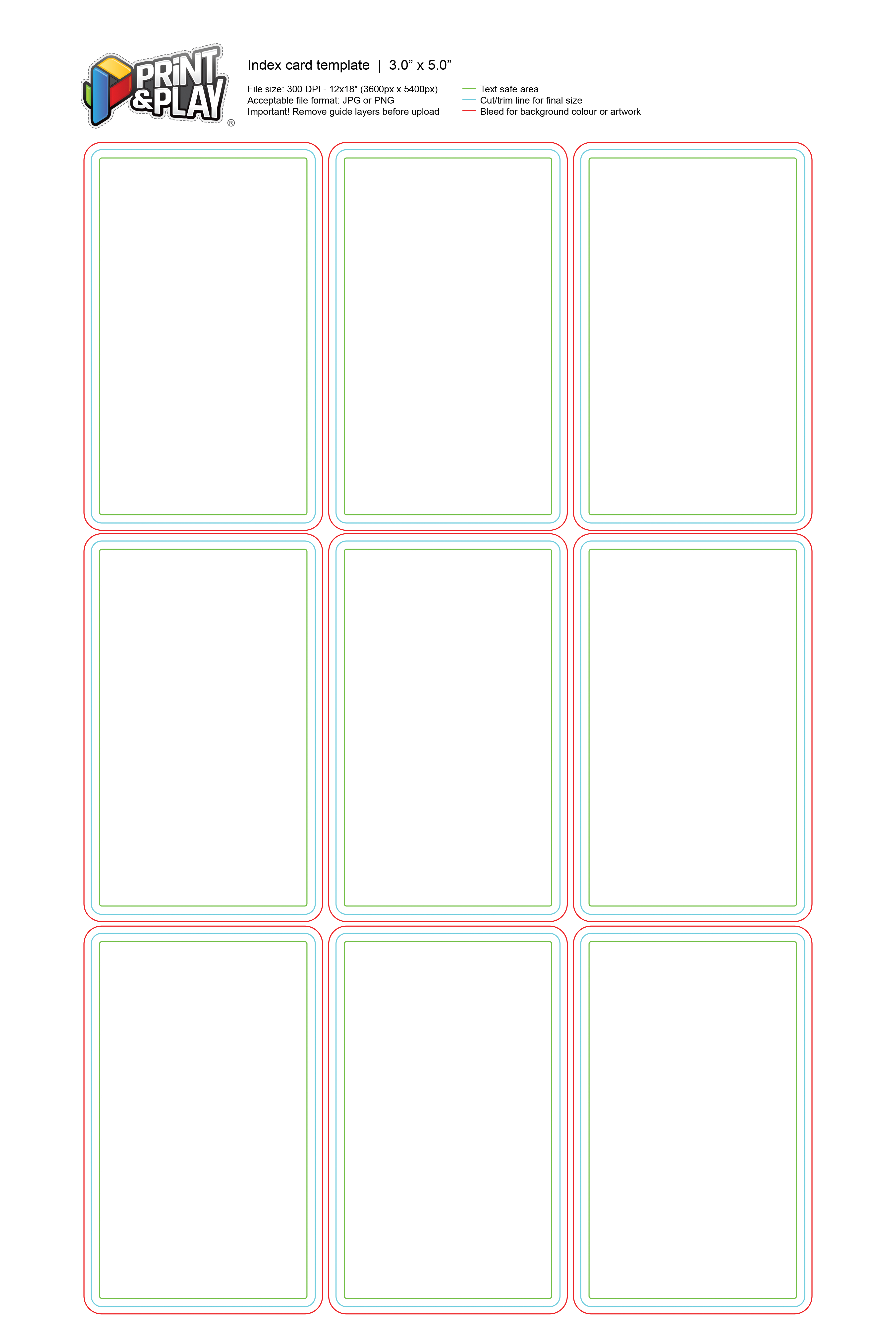 Playing Cards  Formatting  Templates  Print  Play Regarding Index Card Template For Pages