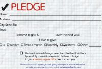 Pledge Cards For Churches  Pledge Card Templates  My Stuff with Donation Cards Template