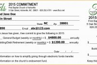 Pledge Cards Template Free Card Donation Excel Templates For Church with Donation Card Template Free