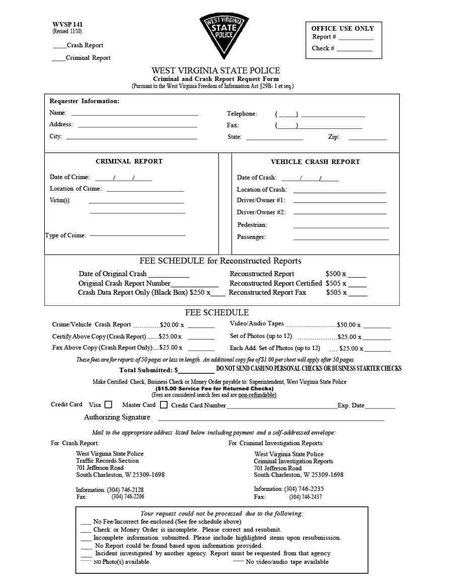 Police Report Template  Examples Fake  Real ᐅ Template Lab For State Report Template