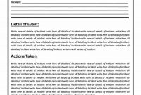 Police Report Templates   Free Blank Samples  Template Section intended for Police Report Template Pdf