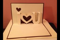 Pop Up Cards  I Love You Pop Up Card  Youtube intended for I Love You Pop Up Card Template