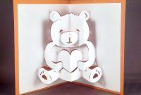 Pop Up Teddy Bear Card Cute Bear Card I Love You Card  Etsy in Teddy Bear Pop Up Card Template Free
