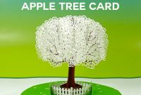 Popup Paper Apple Tree Card D Sliceform  Jennifer Maker intended for Pop Up Tree Card Template