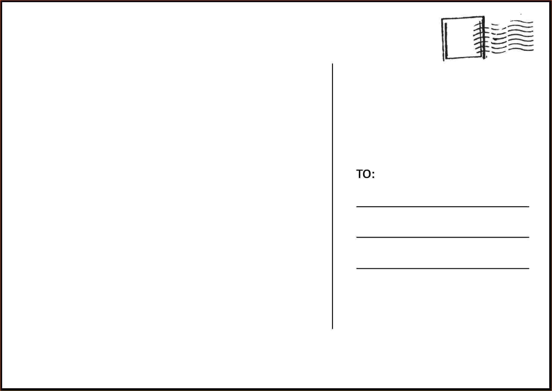 Postcard Template For Word Free Templates Excellent Ideas Blank Pertaining To Free Blank Postcard Template For Word