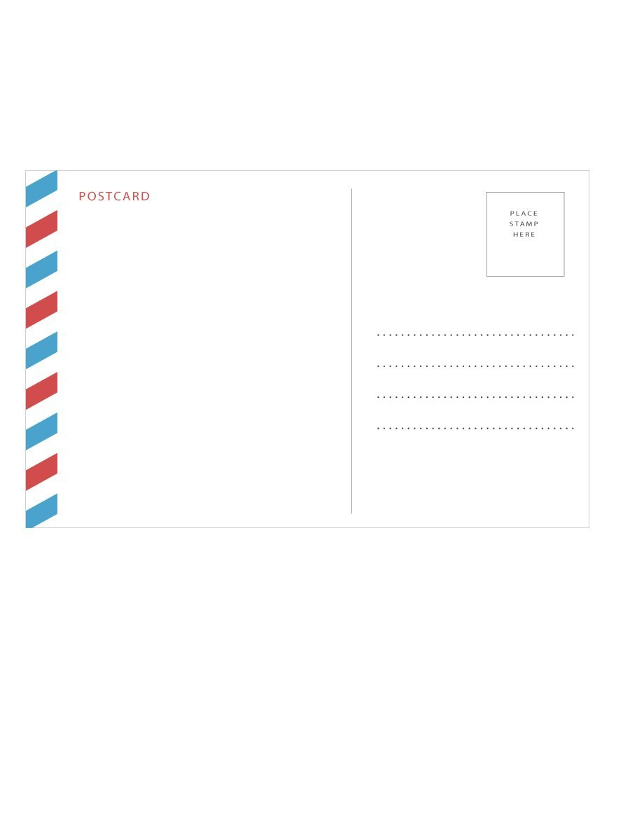 Postcard Template Free Printable Outstanding Ideas X With Regard To 4X6 Photo Card Template Free