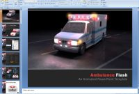 Powerpoint Ambulance Flash Presentation Template inside Ambulance Powerpoint Template