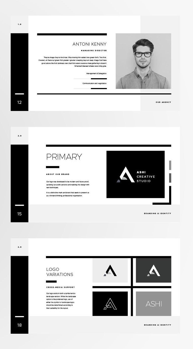 Powerpoint Branding Template  Ashi  The Ashi Brand Guidelines Throughout Replace Powerpoint Template