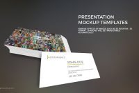 Powerpoint Business Card Mockup Template  Premium Professional intended for Business Card Template Powerpoint Free