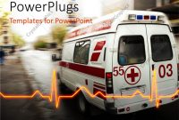 Powerpoint Template An Ambulance With A Heartbeat Line And Place with regard to Ambulance Powerpoint Template