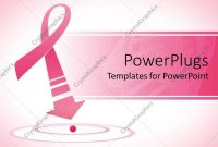 Powerpoint Template Breast Cancer Awareness Pink Ribbon With Arrow regarding Breast Cancer Powerpoint Template