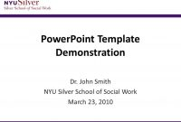Powerpoint Template Demonstration Dr John Smith Nyu Silver School with regard to Nyu Powerpoint Template