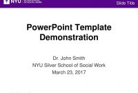 Powerpoint Template Demonstration  Ppt Download intended for Nyu Powerpoint Template