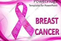 Powerpoint Template Pink Breast Cancer Awareness Ribbon With inside Breast Cancer Powerpoint Template