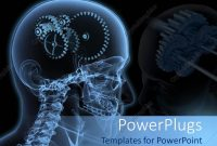 Powerpoint Template The Depiction Of Gears Instead Of Human Brain with Radiology Powerpoint Template