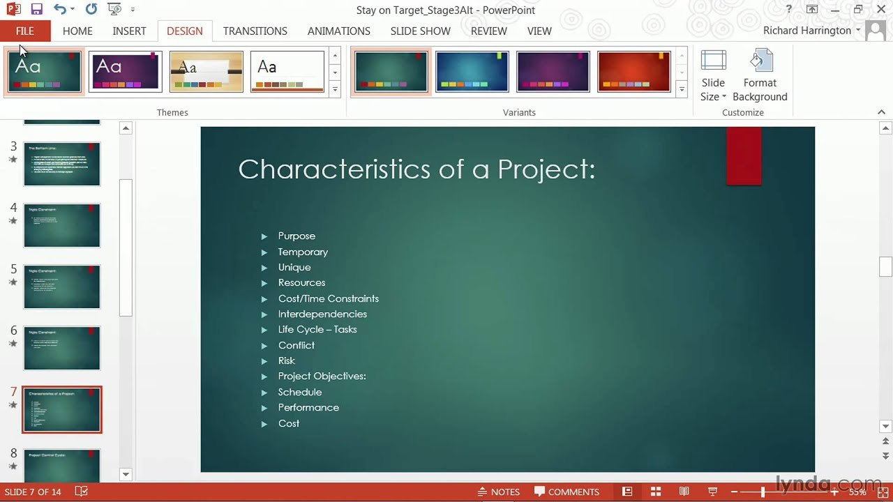 Powerpoint Tutorial How To Change Templates And Themes  Lynda Pertaining To Powerpoint 2013 Template Location