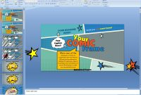 Powerpoint Your Comic Frame Presentation Template inside Powerpoint Comic Template