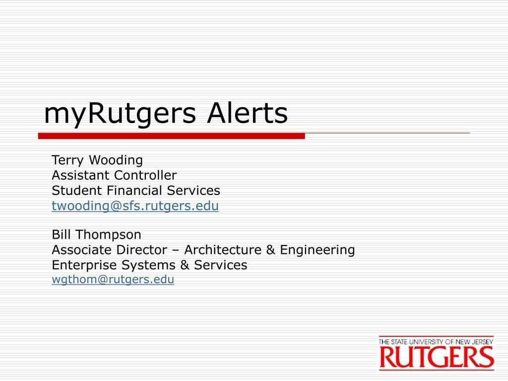 Ppt  Myrutgers Alerts Powerpoint Presentation  Id Regarding Rutgers Powerpoint Template
