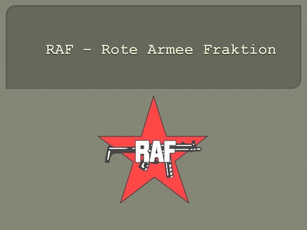 Ppt  Raf – Rote Armee Fraktion Powerpoint Presentation  Id Regarding Raf Powerpoint Template