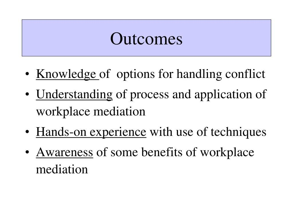 Ppt  Workplace Mediation Strategies And Techniques Powerpoint Within Workplace Mediation Outcome Agreement Template