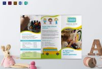 Pre School Brochure Design Template In Psd Word Publisher in Play School Brochure Templates