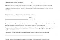 Predivorce Agreement  Download This Predivorce Agreement Template regarding Divorce Financial Settlement Agreement Template