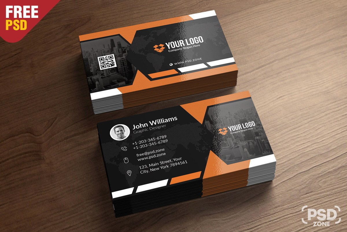 Premium Business Card Templates Free Psd  Psd Zone In Psd Name Card Template