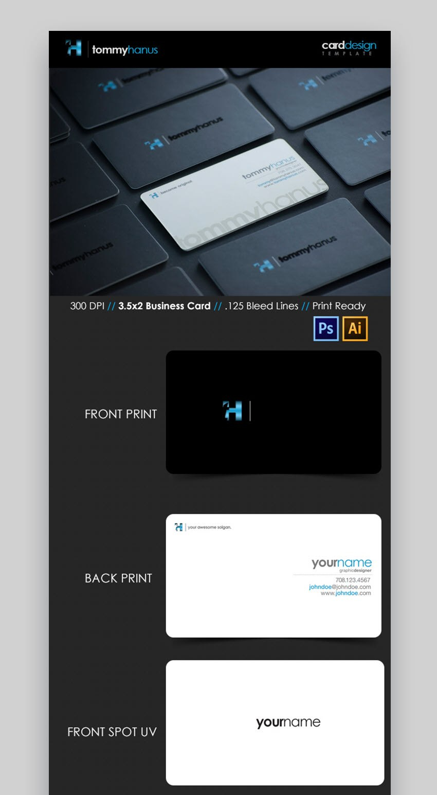 Premium Business Card Templates In Photoshop Illustrator In Visiting Card Templates For Photoshop