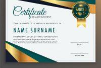 Premium Modern Certificate Template Design Vector Image in Design A Certificate Template