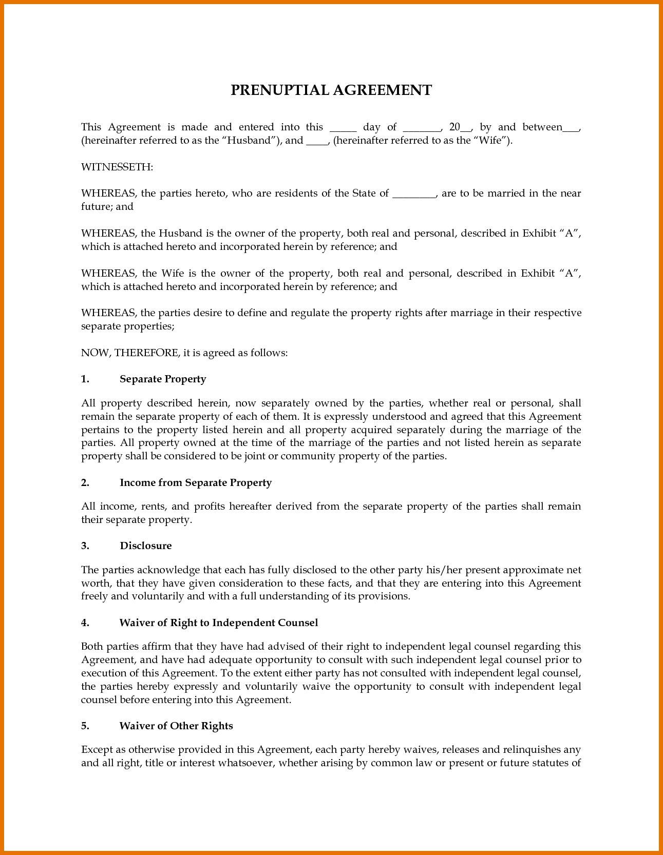 Prenuptial Agreement Sample Uk  Proposal Letter Intended For Uk Prenuptial Agreement Template