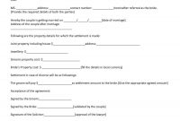 Prenuptial Agreement Samples  Forms ᐅ Template Lab pertaining to Post Nuptial Agreement Template