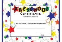Preschool Certificate Templates  Pdf  Free  Premium Templates with Preschool Graduation Certificate Template Free