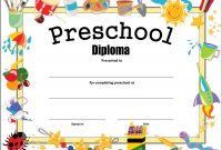 Preschool Diploma Certificate  How To Make A Preschool Diploma with Preschool Graduation Certificate Template Free