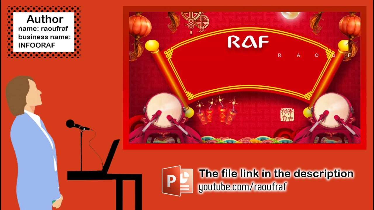 Presentation Powerpoint Model N  Slides  Youtube With Raf Powerpoint Template