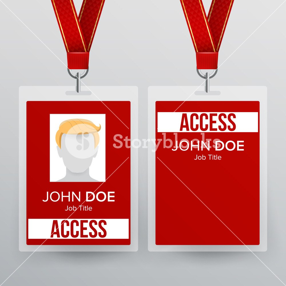 Press Pass Id Card Vector Plastic Badge Template To Business With Regard To Conference Id Card Template