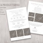 Product Menu Template