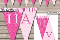 Princess Party Banner Template  Birthday Banner  Editable Bunting in Diy Party Banner Template