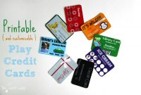 Printable And Customizable Play Credit Cards  The Crazy Craft Lady pertaining to Credit Card Template For Kids