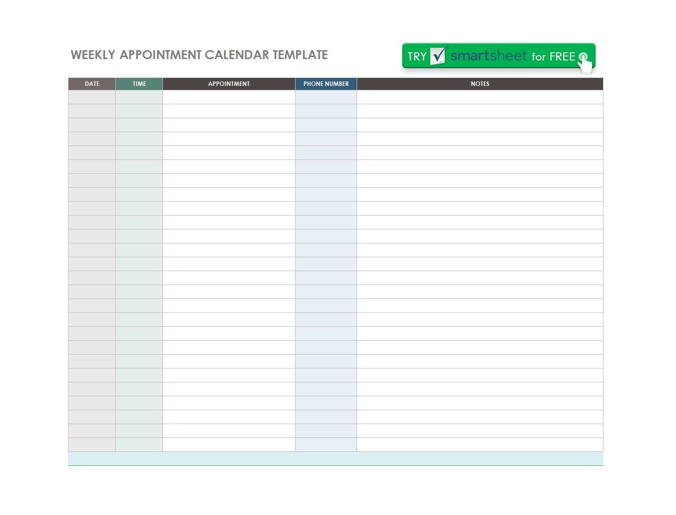 Printable Appointment Schedule Templates  Appointment Calendars In Medical Appointment Card Template Free