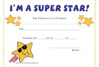 Printable Award Certificates For Students  Craft Ideas  Award with Star Of The Week Certificate Template