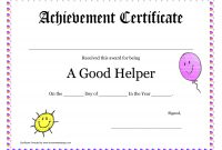 Printable Award Certificates For Teachers  Good Helper Printable in Classroom Certificates Templates