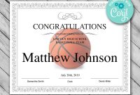 Printable Basketball Certificate Template Editable  Etsy intended for Basketball Camp Certificate Template