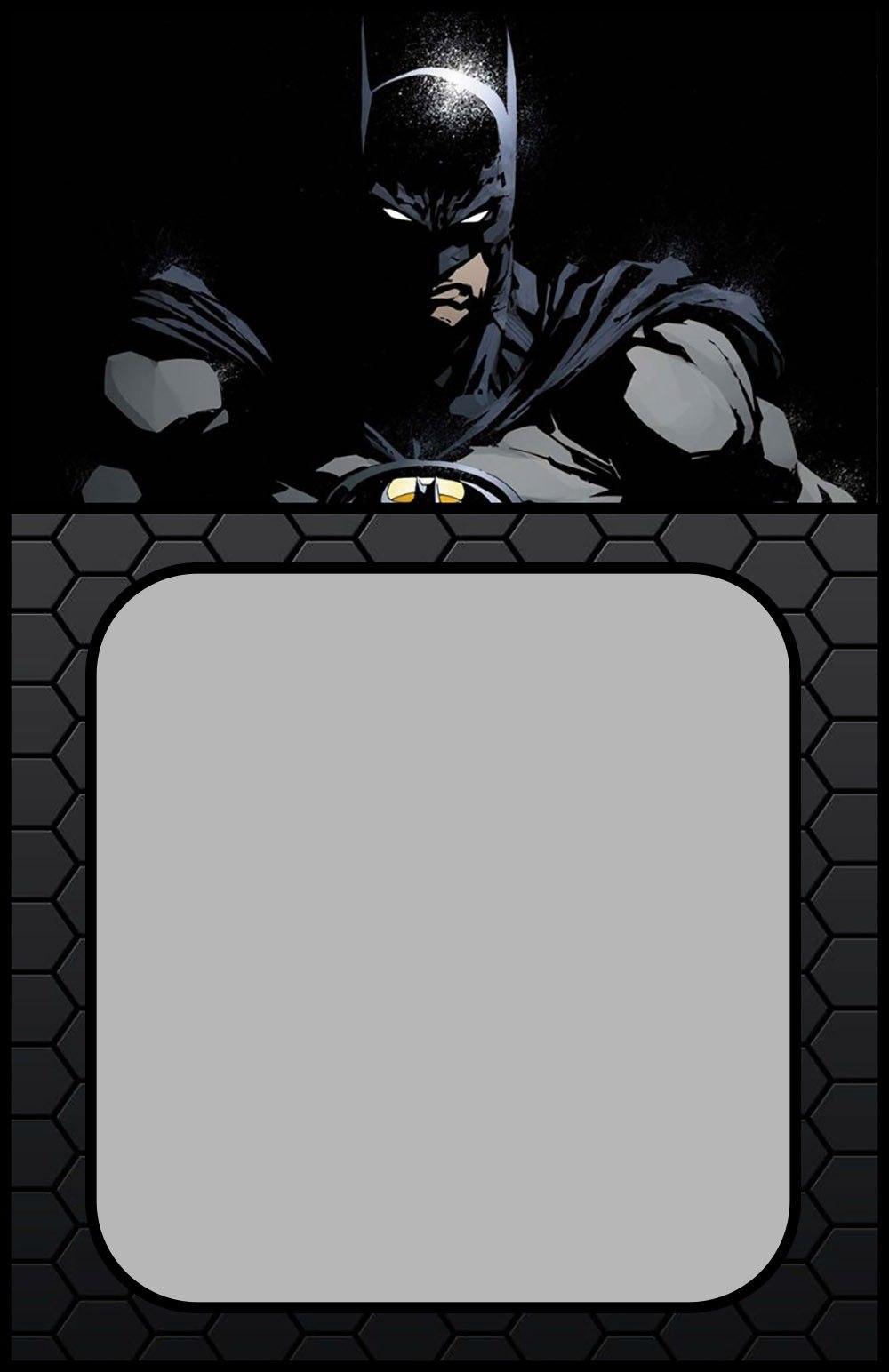 Printable Batman Invitation Card  Coolest Invitation Templates For Batman Birthday Card Template
