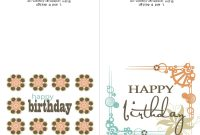 Printable Birthday Card Template Cards Free Intended For Ucwords intended for Word Anniversary Card Template