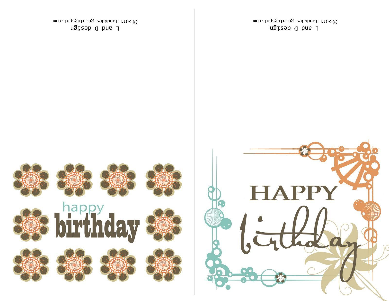 Printable Birthday Card Template Cards Free Intended For Ucwords Pertaining To Template For Cards To Print Free