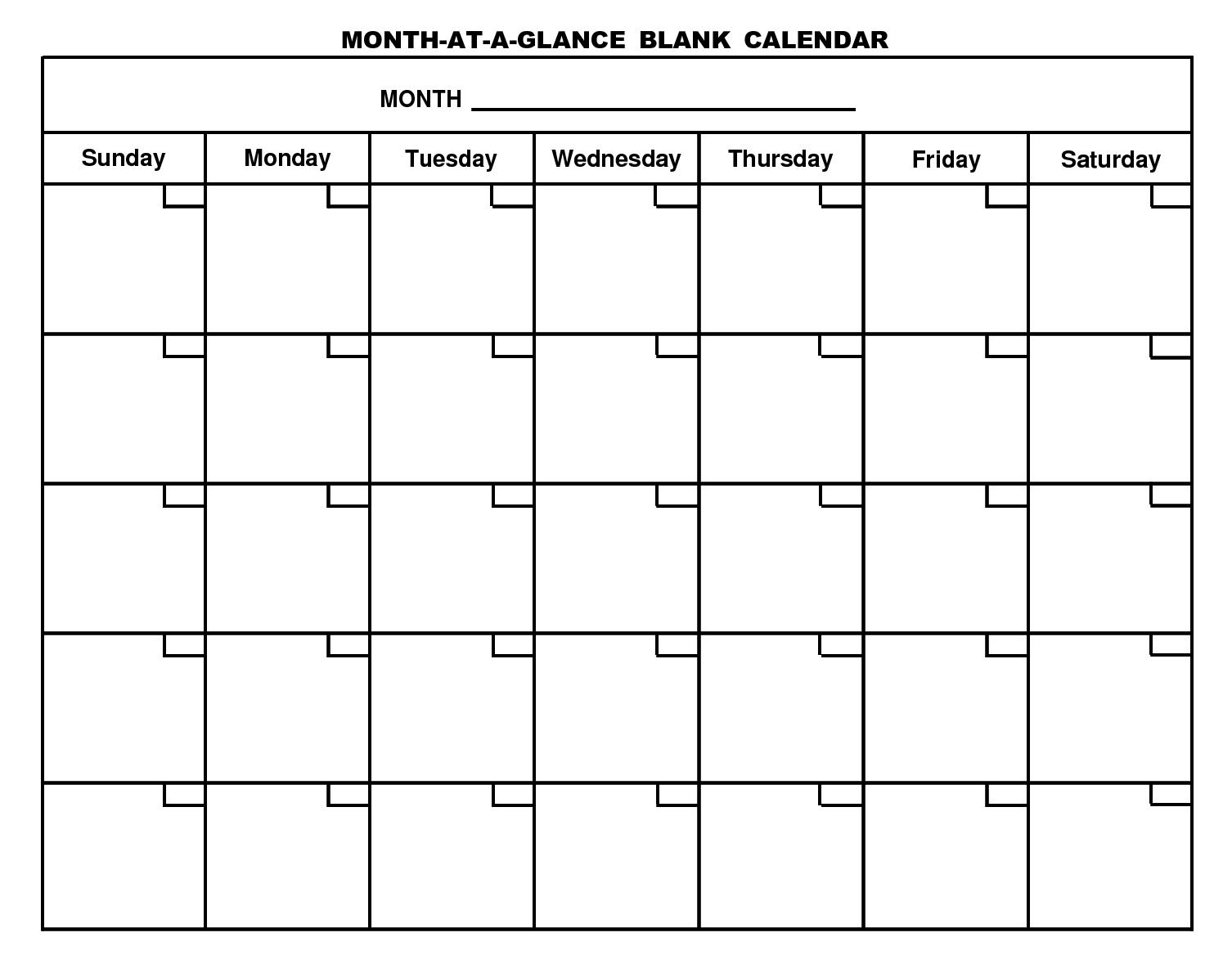 Printable Blank Calendar Template …  Organizing  Blank… Inside Blank Calander Template
