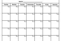 Printable Calendar No Dates  Printable Calendar regarding Month At A Glance Blank Calendar Template